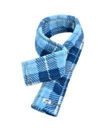Bufanda de Lana para Perros Cuadros Azul