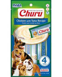 """Snack Cremoso """"CIAO Churu"""" de Pollo y Atún para Perros - 4 tubos"""