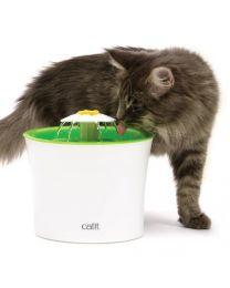 Bebedero Estilo Fuente Floral para Gatos