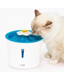 Bebedero Estilo Fuente Floral LED para Gatos