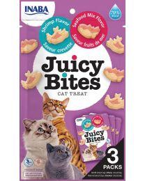 """Premios Jugosos """"Juicy Bites"""" para Gatos Receta Camarón y Mix de Mar"""