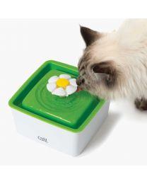 Mini Bebedero Estilo Fuente Floral para Gatos