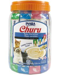 "Pack 50 tubos Snack ""CIAO Churu"" variedades de Atún"