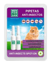 Pipetas Anti-insectos Natural Men for San para Gatos