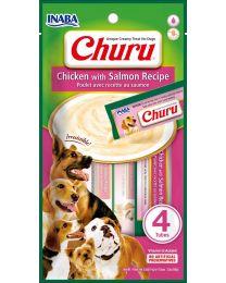 """Snack Cremoso """"CIAO Churu"""" de Pollo y Salmon para Perros - 4 tubos"""