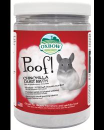 Baño de Polvo Poof! para Chinchillas