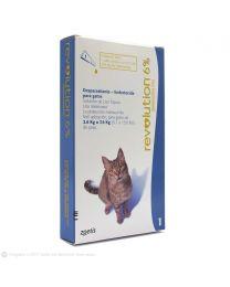 Antiparasitario REVOLUTION 6% para Gatos de 2,6 a 7,5 kg