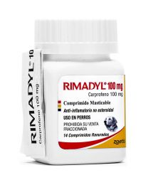 Rimadyl Anti-inflamatorio 100 mg - 14 tabletas